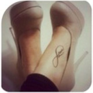 Infinity: Perfect part of the foot to put this Tattoo!