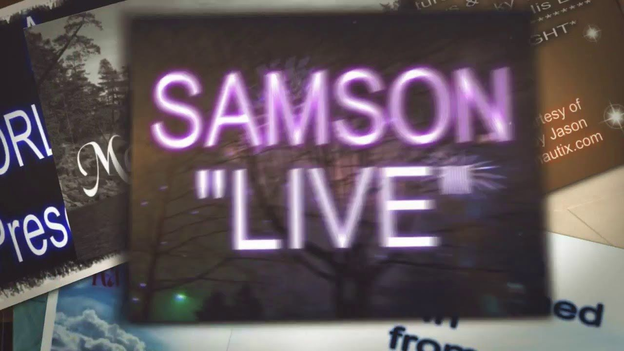"""Samson 'LIVE' with """"THE POOR BOY"""" Neon signs, Light, Poor"""