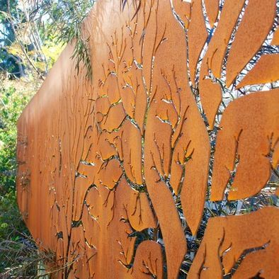 Corten Steel Screen Design, Pictures, Remodel, Decor and Ideas  Corten garden panels ...