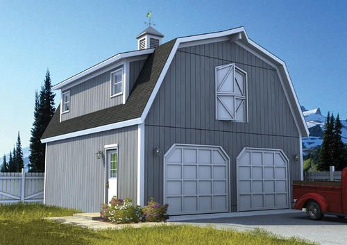 22 X 26 X 8 2 Car Garage Gambrel Roof At Menards 22 X 26 X 8 2 Car Garage Gambrel Roof Farmhouse Style House Plans Farmhouse Style House Gambrel Roof