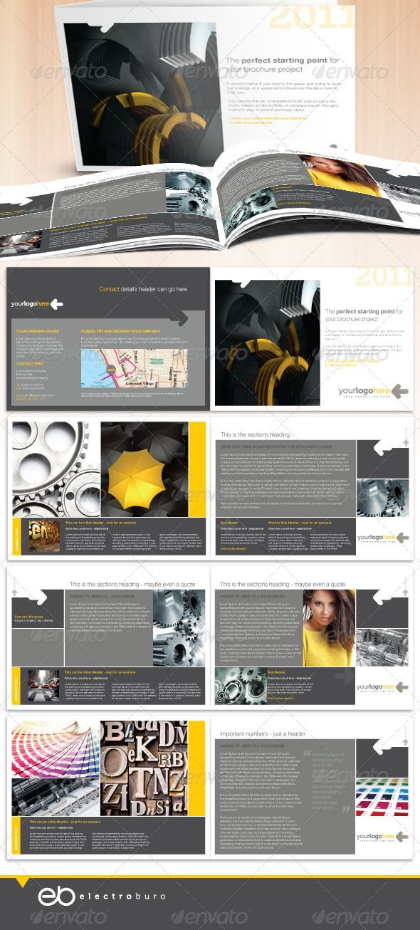 professional business a5 landscape brochure