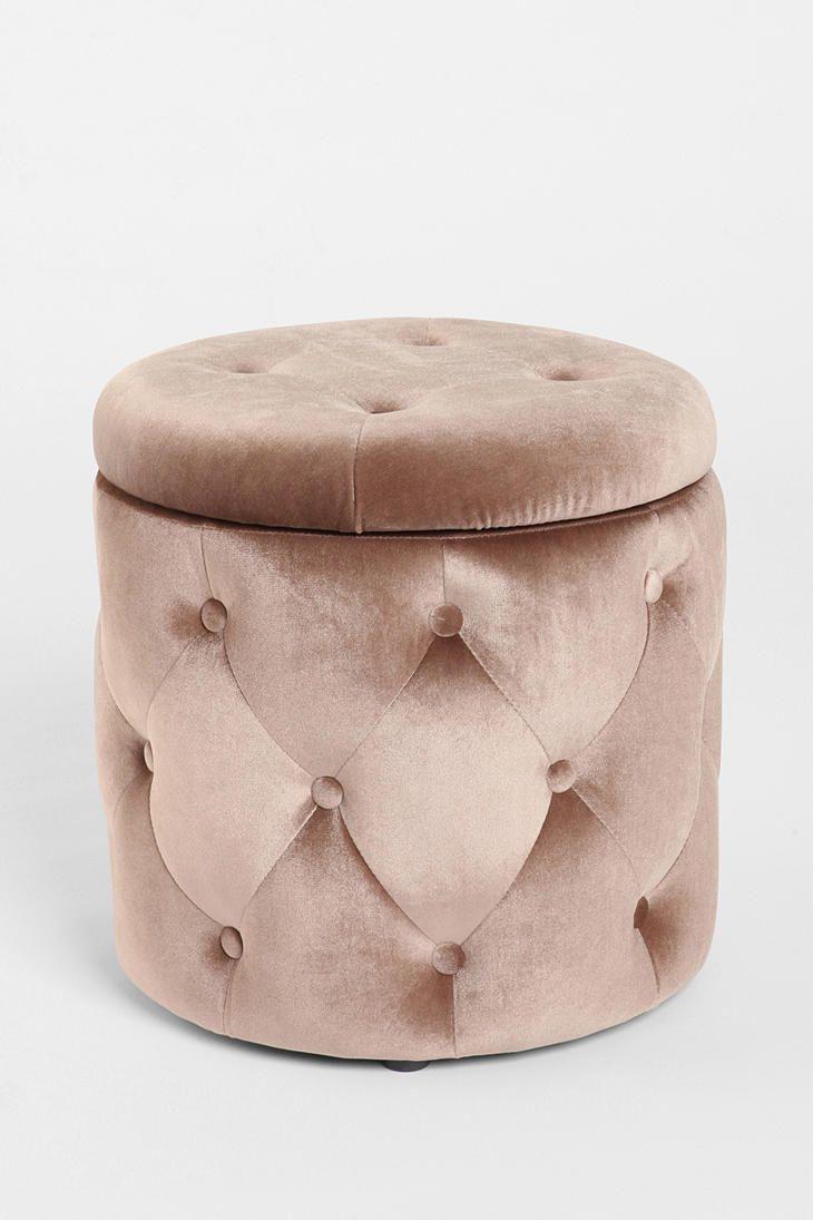 Velvet Ottoman Urban Outfitters Pouf Rangement Pouf Capitonne Decoration Cocooning