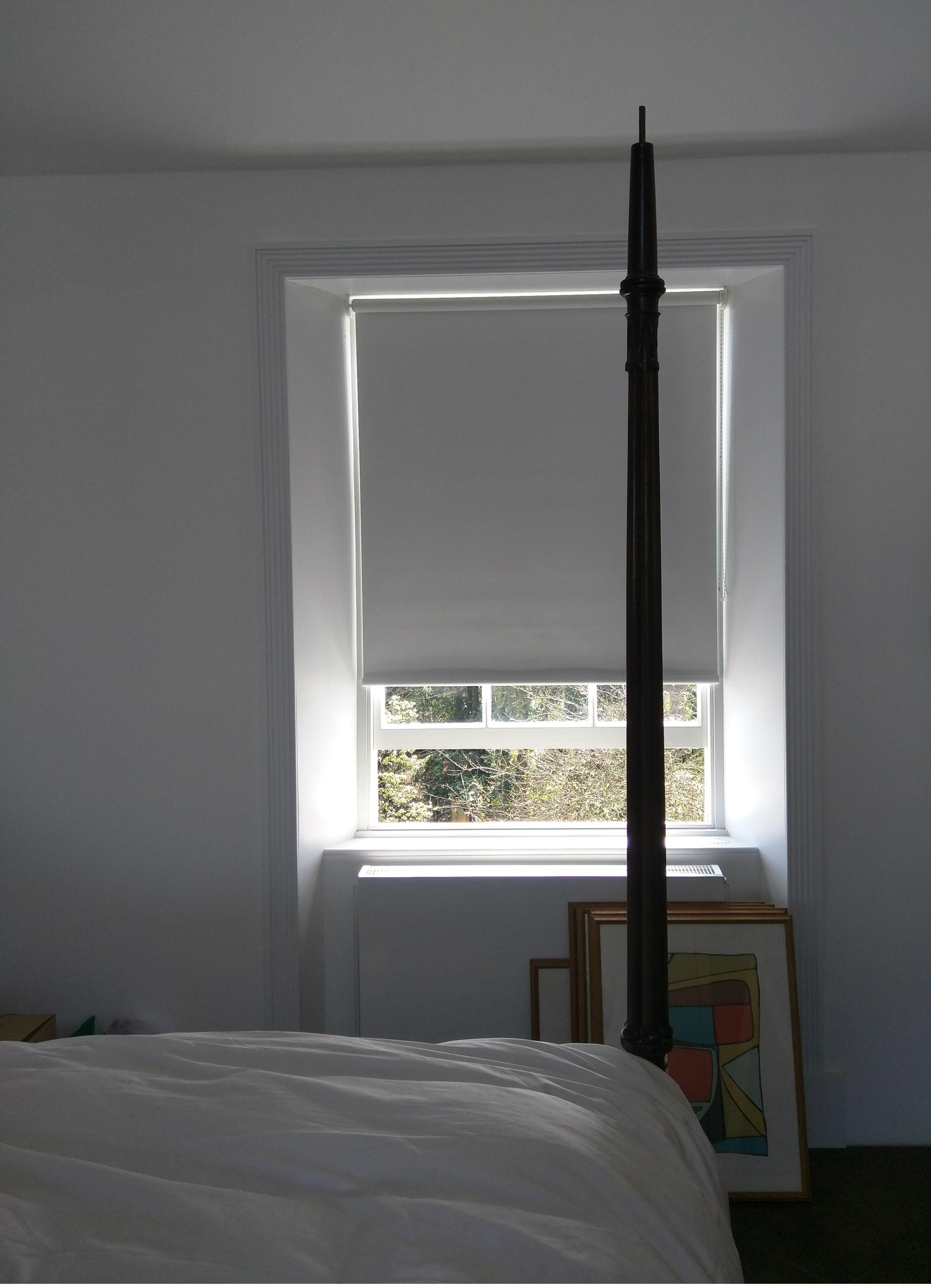 Blackout Bedroom Blinds Glamorous Blackout Roller Blind In Polar White  Bedroom Blind  Sash Window Decorating Design