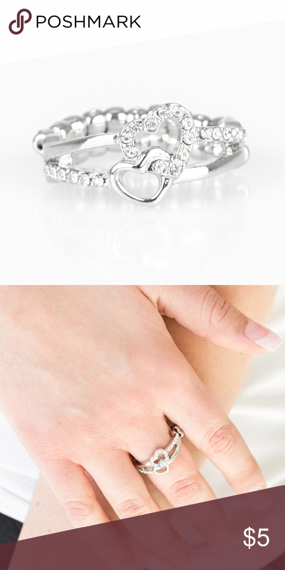 The Perfect Matchmaker White Ring Glistening Silver Ribbons And White Rhinestone Encrusted Ribbons Interweave Into A White Ring Womens Jewelry Rings Ring Fit