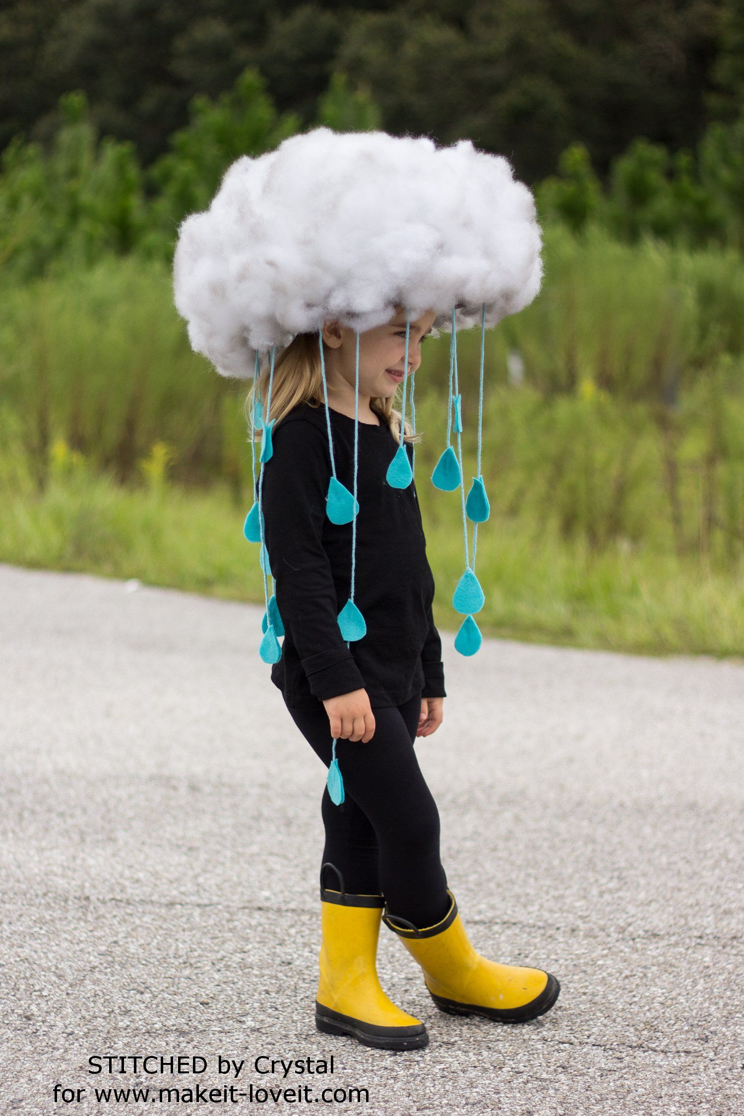 Halloween Costume Quick.Make A Quick Easy Rain Cloud Costume For All Ages Halloween