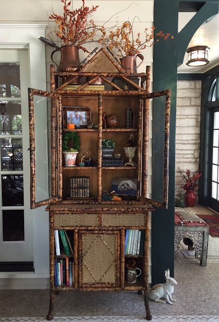Best Gorgeous Bamboo Cabinet On Sun Porch Via Hyacinths For The 640 x 480
