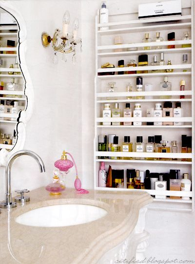 this bathroom + the perfume collection <3 | Home Decor Inspiration ...