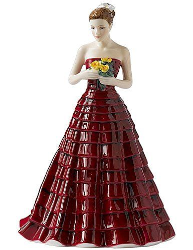 Royal Doulton PRETTY LADIES OCCASIONS: My Darling 7.0″.... i love this dress!
