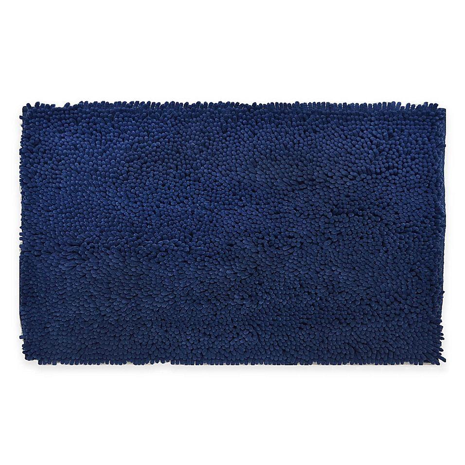 Super Sponge 17 X 24 Bath Mat In Blue Bath Bath Mat Microfiber