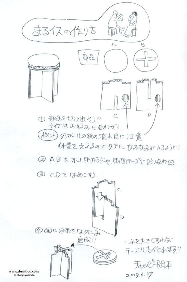 ダンボール家具の作り方:椅子&テーブル編 | crafts | ダンボール家具
