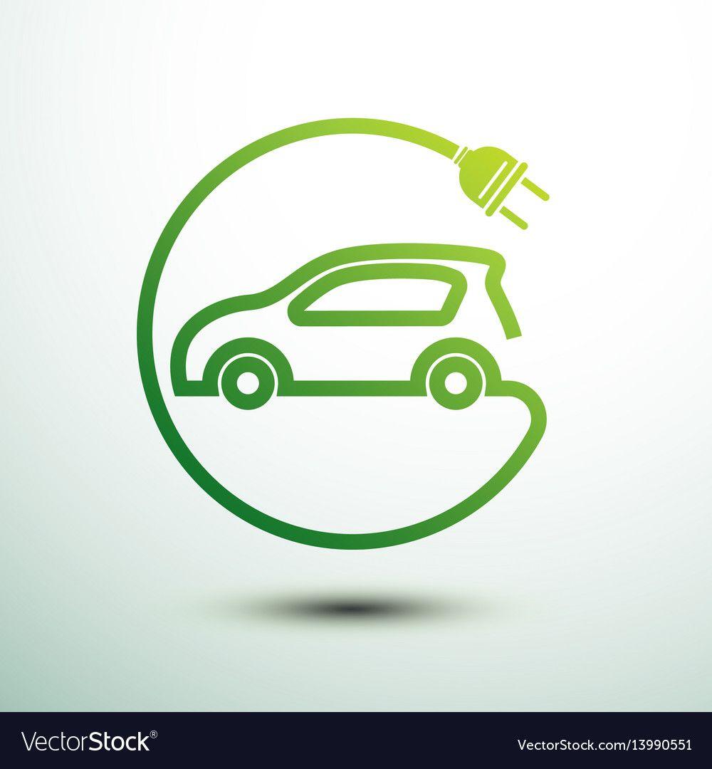 Electric Car Royalty Free Vector Image Vectorstock Affiliate Royalty Car Electric Free Ad Car Logo Design Green Energy Logo Car Wrap Design [ 1080 x 1000 Pixel ]