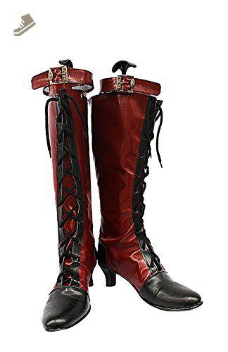 Black Butler Kuroshitsuji Ciel Red Boots Cosplay Shoes Boots Custom Made