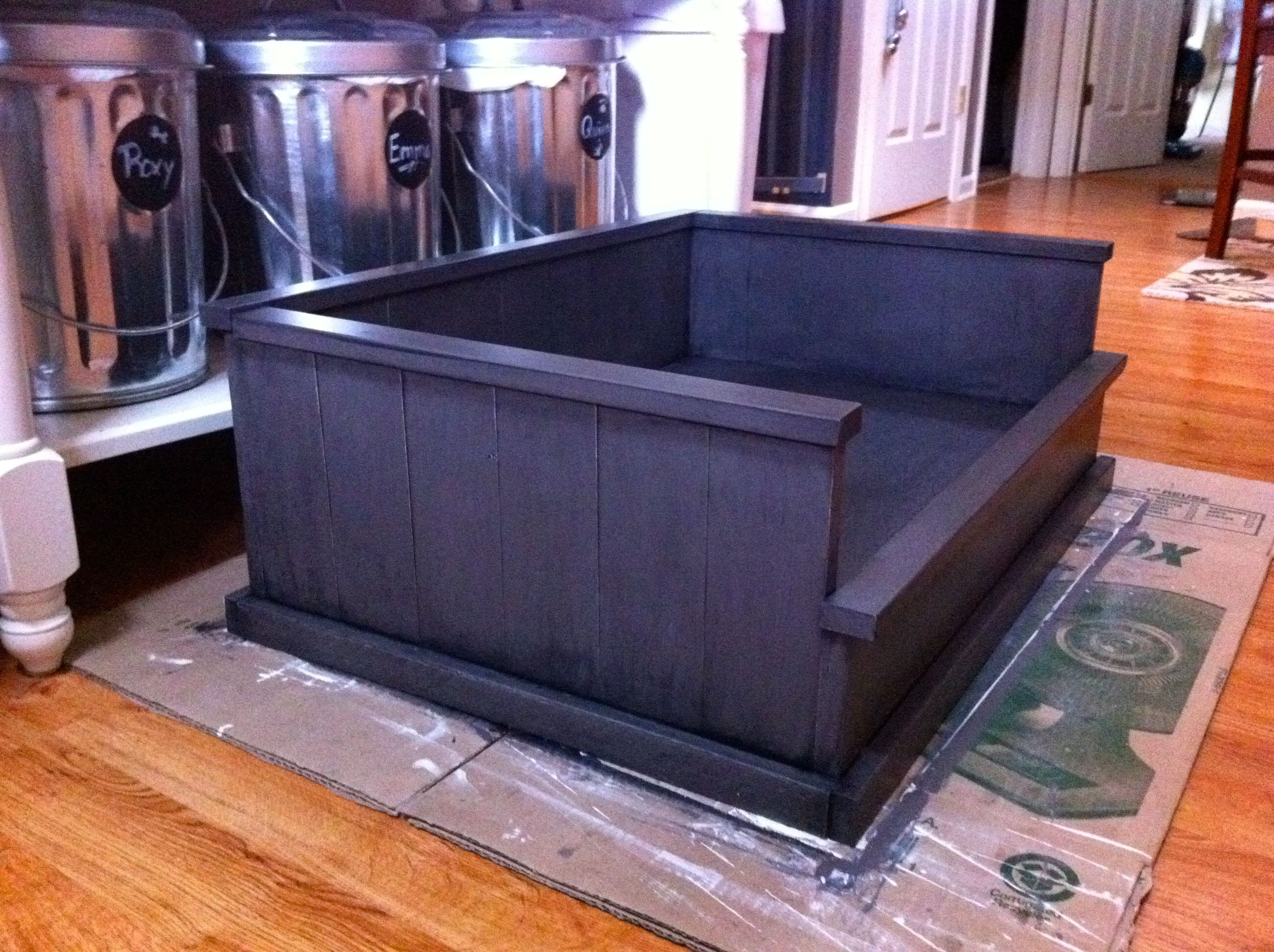 diy furniture dog beds Inspired by the Farmhouse Bed