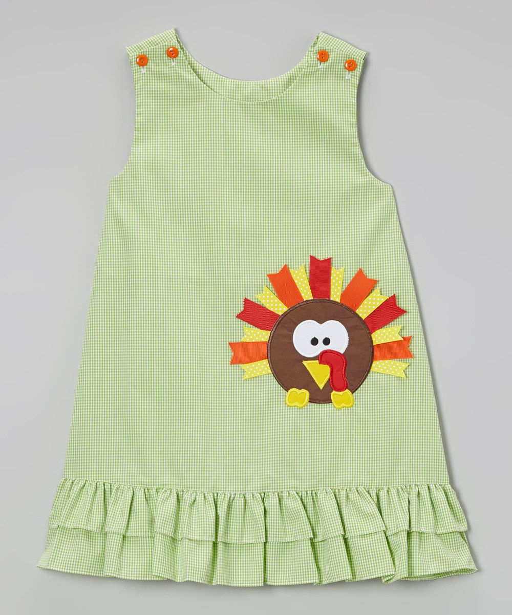 Take a look at this Green Turkey Gingham Jumper - Infant, Toddler & Girls on zulily today!