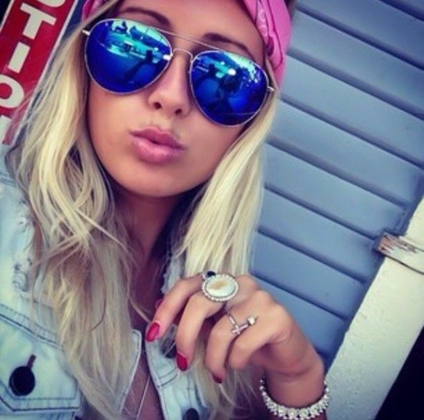 blue tinted aviator sunglasses  Jewels