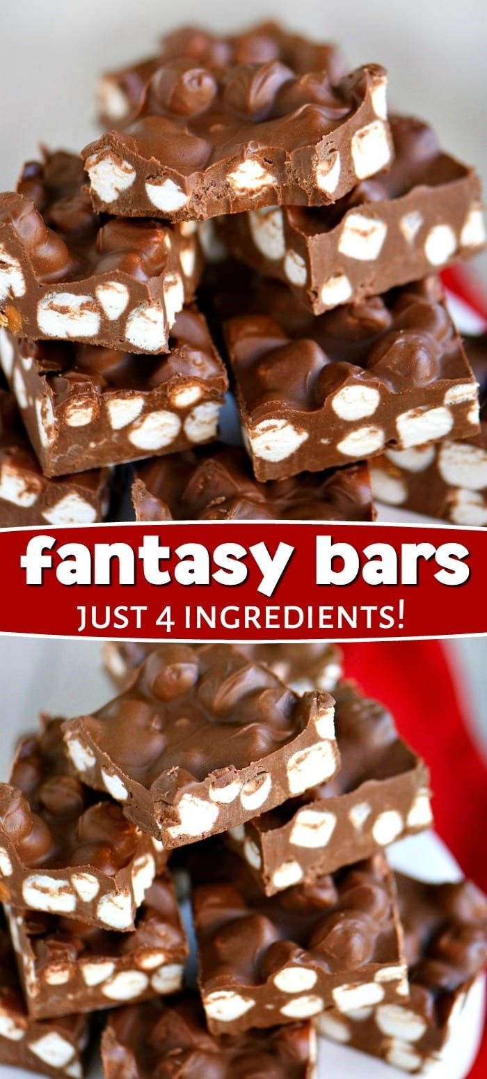 These sensational Fantasy Bars take just 5 minutes and 4 ingredients! Supremely decadent, these easy bars have a fudge like consistency and rich, chocolate flavor. It's the ultimate combination of chocolate, peanut butter, and butterscotch that really takes this recipe over the top! // Mom On Timeout  recipe  dessert  desserts  sweets  chocolate  peanutbutter  butterscotch  Christmas  recipes  momontimeout