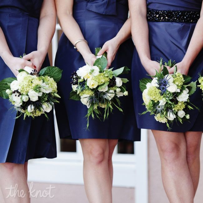 The Thistle Was My Favorite Part Of Flowers A Great Way To Add Bouquethydrangea Bouquetnavy Bridesmaid Bouquetsbridal