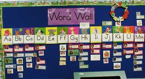 67beb05aed016743afeb9954fdfca8d8 - Kindergarten Word Wall