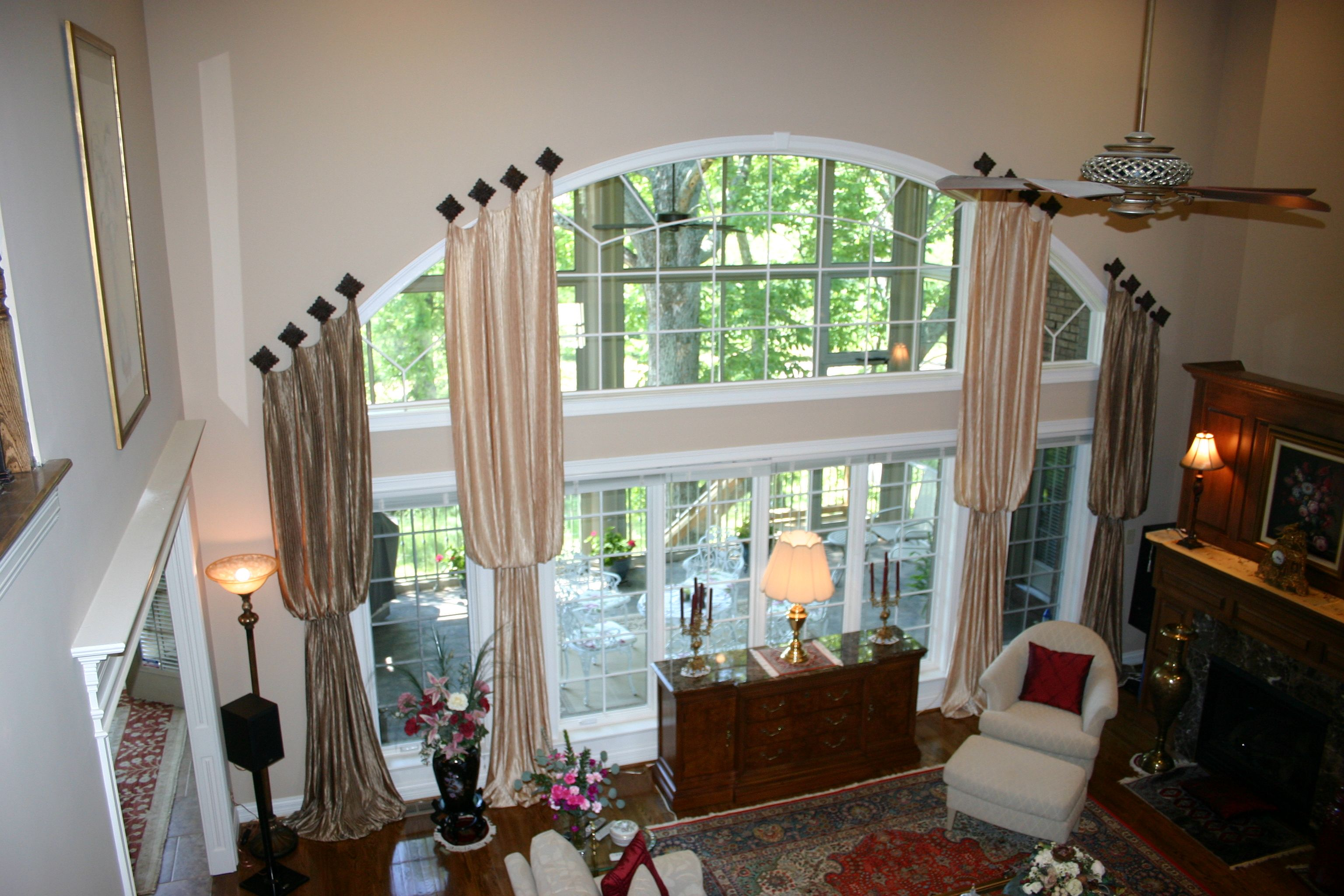 Wow amazing large window treatment large round - Living room window treatments for large windows ...