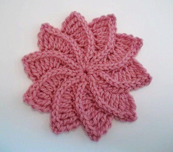Flor de Crochê Espiral com gráfico | Rosas de crochê | Pinterest ...