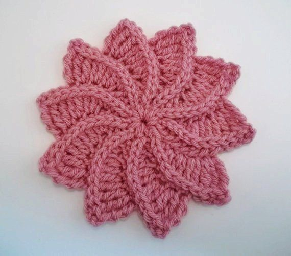 Flor de Crochê Espiral com gráfico   croche   Pinterest   Stricken ...