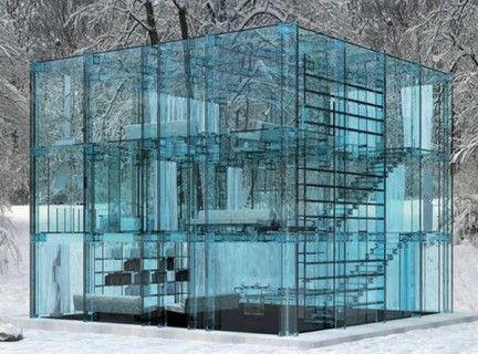Una casa interamente di vetro