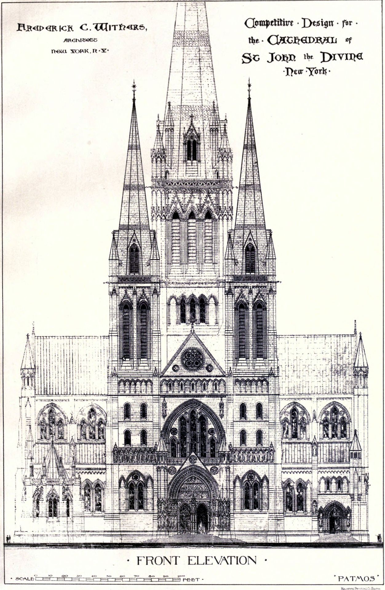 withers u0027s design for the cathedral of st john the divine new