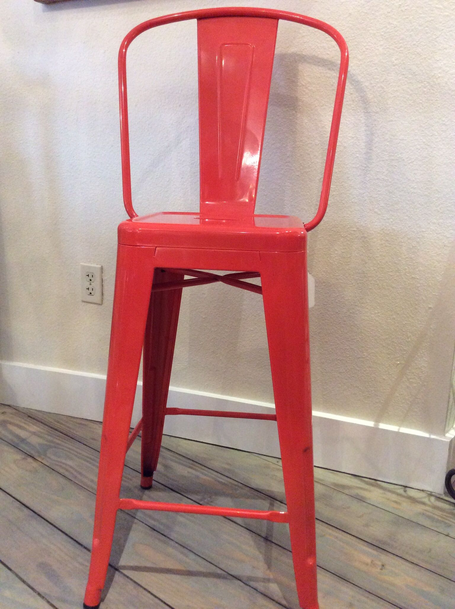 Orange Red Metal Counter Stool In Our Shop Metal Counter Stools Counter Stools Stool
