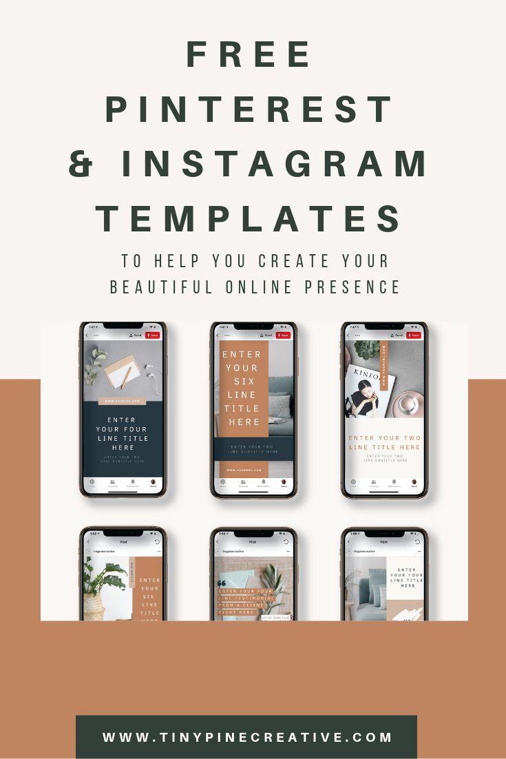 Free Canva Pinterest Templates & Free Canva Instagram Templates ...