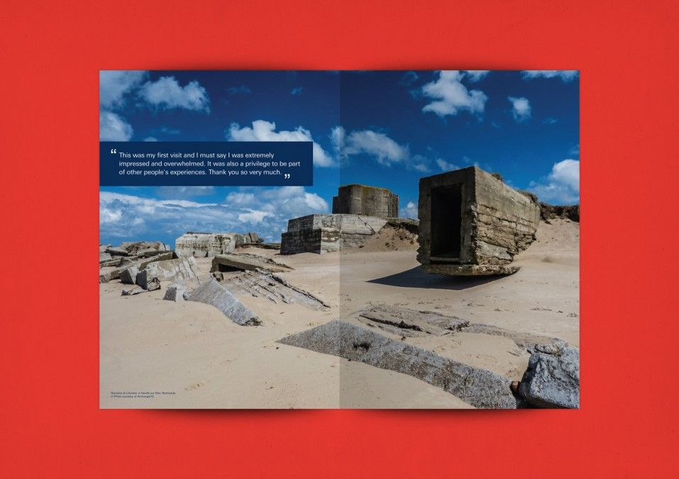 bml creative royal british legion remembrance travel brochure