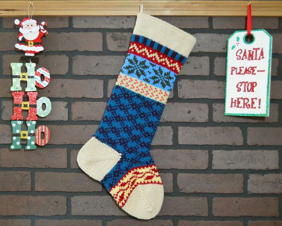 Personalized Christmas Stocking Hand Knit in Heather Tan with ivy ...