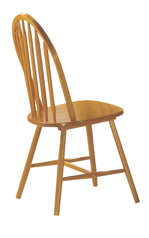 Acme 02482oak Set Of 4 Farmhouse Arrow Back Windsor Side Chair