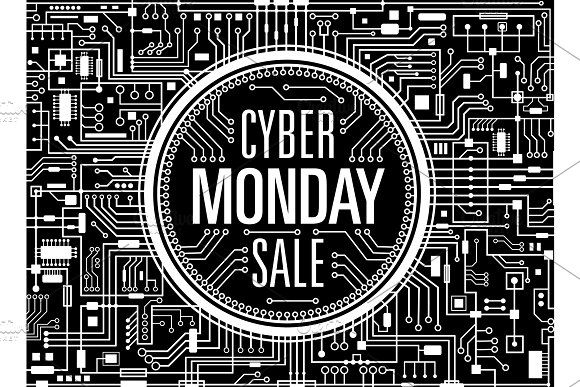 Cyber monday sale vector banner by MSA-Graphics on Creative Market