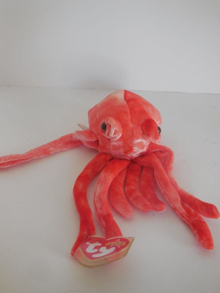 bcbce8d27b0 Ty Beanie Baby Wiggly the Squid 2000 MWMT RETIRED  Ty