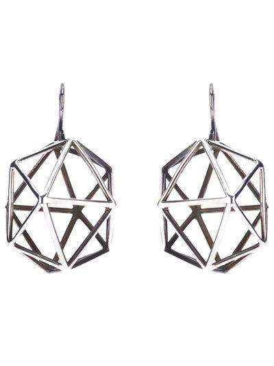 Bottega Veneta Icosahedron Cage Earrings