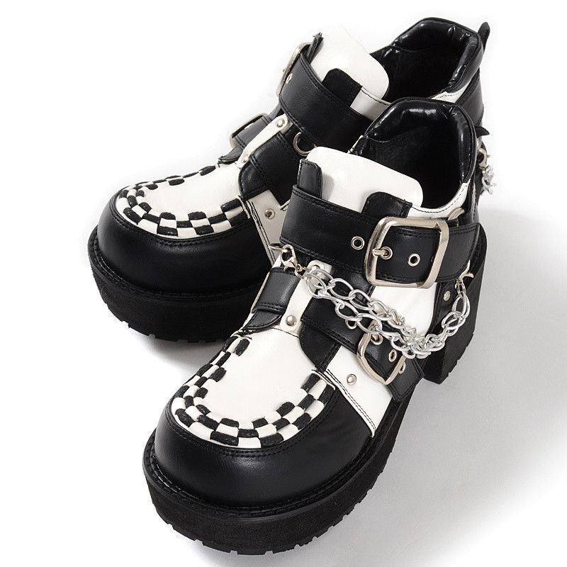 131d3b2fa65 YOSUKE USA is loved by fans thanks to its cool punk goth inspired shoe  designs