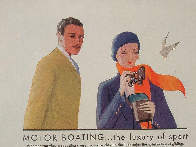 ephemera 1930s | Motor boating. Heehee