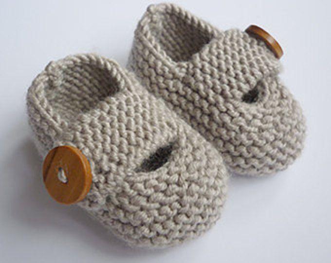 Knitting Pattern, Baby Booties, PDF Knitting Pattern, Modern Baby ...