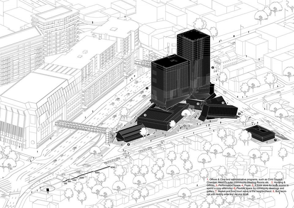 012-City of Ryde Civic Center by Preliminary Research Office