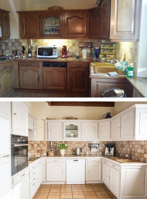 Relooking d 39 une cuisine en bois avant apr s paja joe kitchen cabinet remodel kitchen - Cuisine avant apres ...