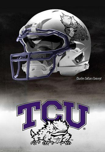 Tcu Tcu Football Football Helmets Cool Football Helmets