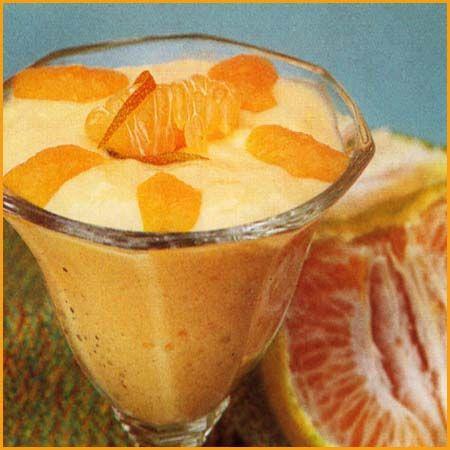 Postre de mandarina en copas con salsa de naranja - Postre con mandarinas ...