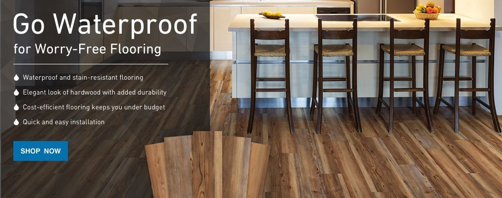 go waterproof for worryfree flooring that's stain