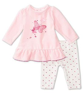 Babies Gr. 5092 Erstlingsoutfit in weiss / rosa Mode