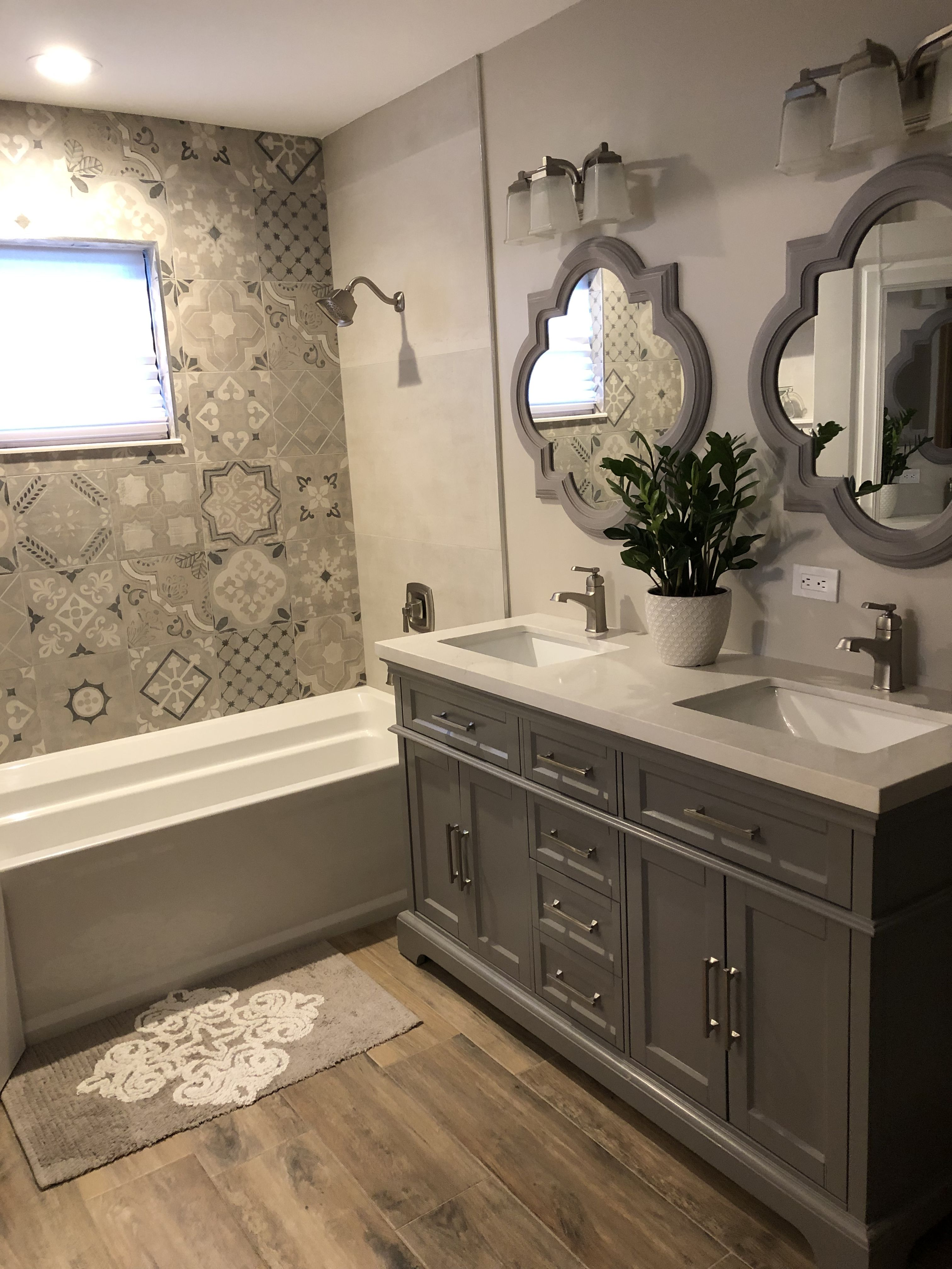 Gray And Beige Bathroom Beige Bathroom Bathroom Interior Bathrooms Remodel
