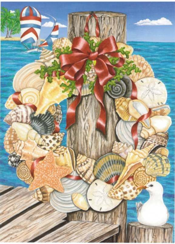 nautical holiday cards from your region warmest wishes from sand scripts - Nautical Christmas Cards