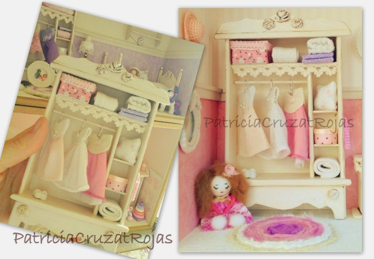 Detalles Cuadro Dormitorio de Niña con miniaturas. Colores Rosa ...