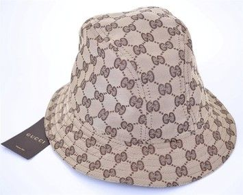70160791 Get the lowest price on GUCCI UNISEX GG GUCCISSIMA MONOGRAM LOGO FEDORA  BUCKET RAIN HAT SZ L NEW and ...