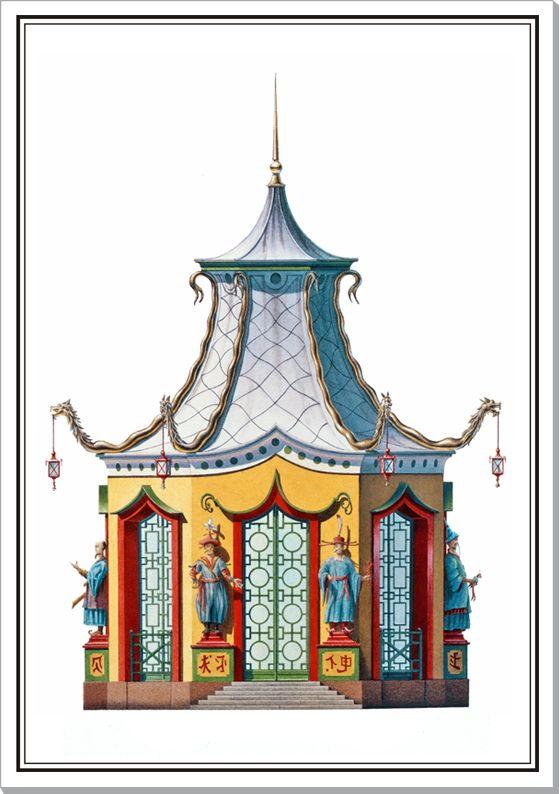 Serpent pagoda fantasy design
