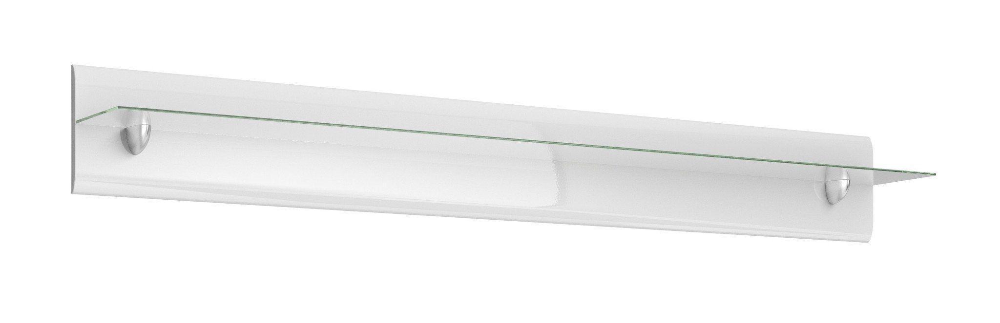 Hektor 02 Shelf 170cm - White Gloss / 170cm